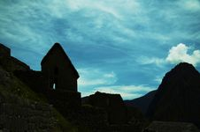 Free Machu-Picchu Silhouette Royalty Free Stock Images - 1574879