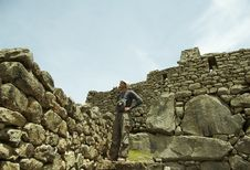 Free Tourist In The Machu-Picchu City Royalty Free Stock Photography - 1574917