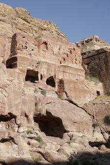 Free Ancient Tombs In Petra, Jordan Stock Photography - 1575622