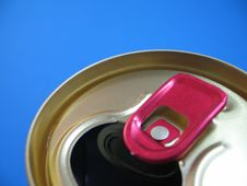 Free Aluminium Can On A Blue Background Stock Photos - 1576613