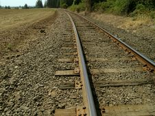 Free Railroad  Tracks Royalty Free Stock Photo - 1576685
