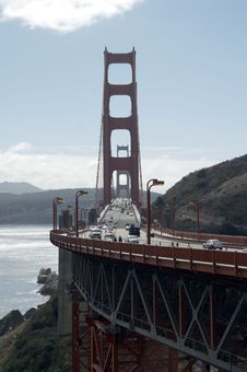 Free Traffic On Golden Gate Bridge Stock Photos - 1577713
