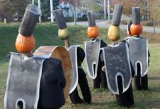 Free Band Pumpkins Royalty Free Stock Photos - 1578298