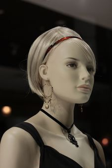 Head Of A Mannequin Royalty Free Stock Images