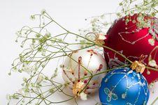 Free Three Christmas Balls Royalty Free Stock Photography - 1578427