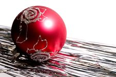Free Red Christmas Ball And Spangle Stock Photography - 1578442