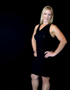 Free Woman In A Black Dress Stock Photos - 1579403