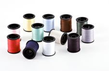 12 Spools Of Thread Royalty Free Stock Photography