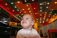 Free Baby And Light Roof Stock Photo - 1579540