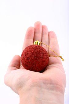 Free Christmas Ball Gift Royalty Free Stock Photo - 1579565