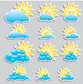 Free Universal Icons Clouds - Set  (Weather) Royalty Free Stock Photo - 15704675