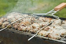 Free Barbecue On A Lattice Out Of Door Stock Image - 15700941
