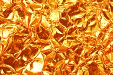 Texture Of Gold Foil Paper Royalty Free Stock Photo