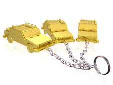 Free Gold Cars On Keychain Stock Photo - 15701050