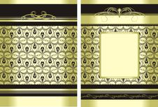 Free Two Decorative Backgrounds For Wrapping Royalty Free Stock Photos - 15701408