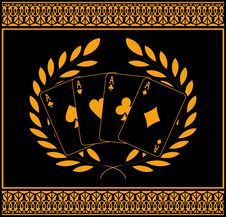 Free Four Aces For Winners Royalty Free Stock Image - 15701596