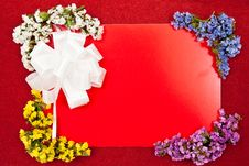 Free White Bow And Greeting Card Royalty Free Stock Images - 15702139