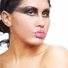 Free Portrait Of Woman With  Make-up Royalty Free Stock Photography - 15703347