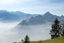 Free Autumn In Swiss Alps Royalty Free Stock Photos - 15703808