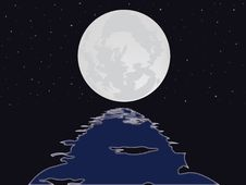 Free The Full Moon In The Star Sky Stock Photos - 15704153
