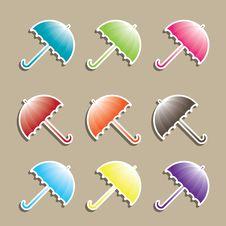 Free Set Of Colorful Umbrellas. Stock Photo - 15704660