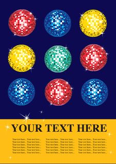 Free Multicolor Shining Discoballs Stock Images - 15704694