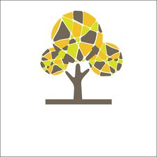 Free Retro Tree. Vector Illustration Royalty Free Stock Photos - 15704718