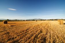 Free Field After Harvest Against Mountains. Royalty Free Stock Photo - 15705155