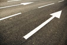 Free Road Marking At Sunset Stock Images - 15705174