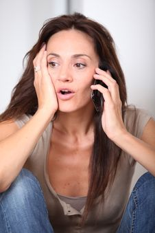 Free Woman Receiving A Phonecall Stock Photos - 15705673