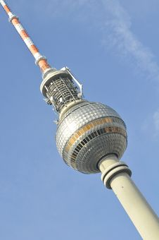 Alexander Platz Television Tower Berlin Stock Photo