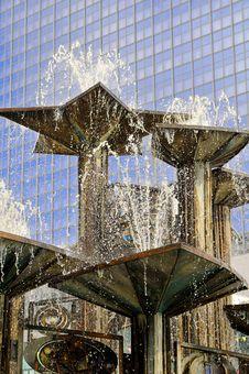 Alexander Platz Fountain Berlin Stock Photography
