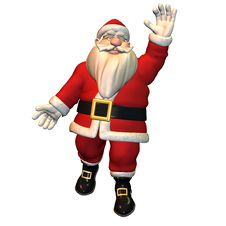 Free Hello - Santa Claus In Greeting Pose Royalty Free Stock Image - 15705926