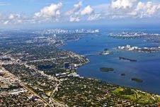 Aerial Of Coastline Miami Royalty Free Stock Image