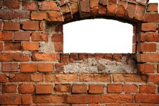 Red Old Brick Framework With White. Stock Photos