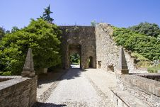 The Old Walls Of The Castle Of Montechirugolo, Ita Stock Photography