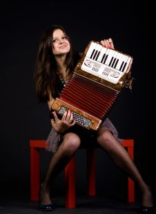 Free Girl With Accordion Stock Photos - 15706463