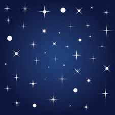 Free Blue Vector Background With Stars Royalty Free Stock Images - 15706679