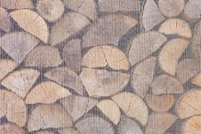 Pile Of Wooden Logs Stock Photography