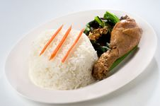 Free Steamed Garlic Chicken And Rice Royalty Free Stock Photography - 15707287