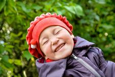 Portrait Of Laughing Little Girl Stock Photography