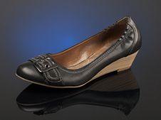 Free Black Shoe Royalty Free Stock Image - 15707726