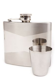 Free Hip Flask Isolated Royalty Free Stock Images - 15708049
