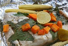 Free White Sea Bass Bake With Herb Royalty Free Stock Photo - 15708685
