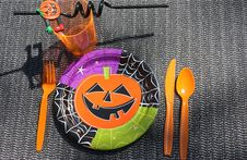 Free Halloween Table Setting Stock Photo - 15708930