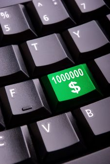 Money Symbol On A Keyboard Stock Photo