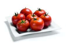 Free Tomatoes On A Plate Royalty Free Stock Images - 15709779