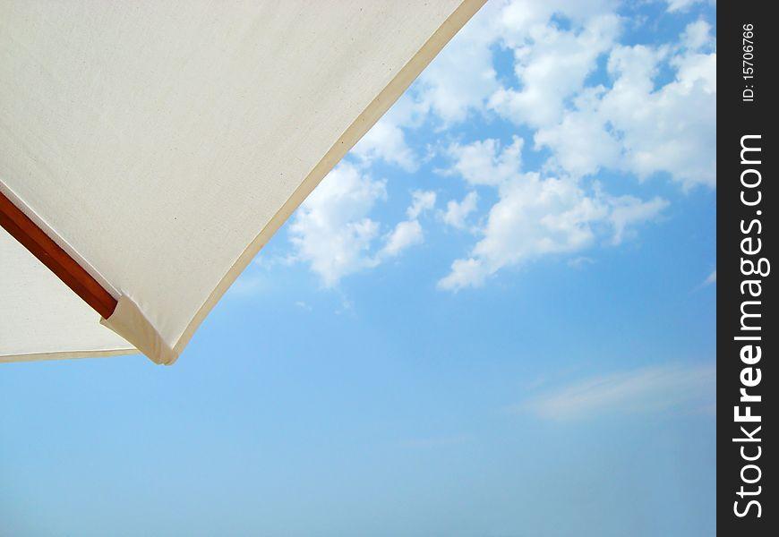 Umbrella against the sky