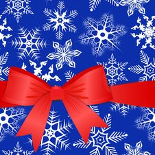 Free Red Bow On A Christmas Background. Eps10 Stock Image - 15710181