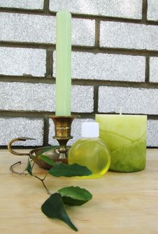 Green Spa Objects Royalty Free Stock Image